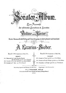 Sonatina for Violin and Piano No.1 in D Major, D.384 Op.137: Score by Franz Schubert