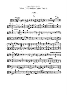 Concerto for Piano and Orchestra in F Sharp Minor, Op.20: Violas part by Alexander Scriabin