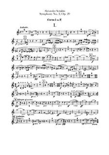 Symphony No.2 in C Minor, Op.29: Horns I-II parts by Alexander Scriabin