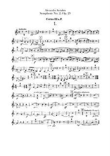 Symphony No.2 in C Minor, Op.29: Horns III-IV parts by Alexander Scriabin