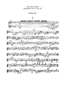 Symphony No.2 in C Minor, Op.29: Violins II part by Alexander Scriabin