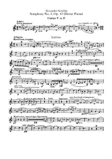 Symphony No.3 in C Minor 'The Divine Poem', Op.43: Horns V-VIII parts by Alexander Scriabin