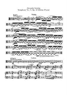 Symphony No.3 in C Minor 'The Divine Poem', Op.43: Violas part by Alexander Scriabin