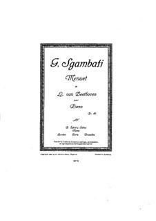 Minuet in G Flat Major: Minuet in G Flat Major by Ludwig van Beethoven
