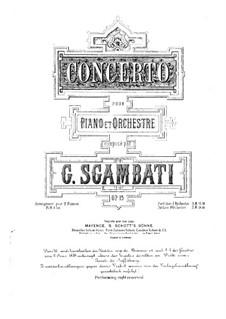 Piano Concerto in G Minor, Op.15: Movement I by Giovanni Sgambati