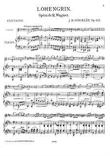 Fantasia on Themes from 'Lohengrin' by Wagner, Op.123: Score by Jean Baptiste Singelée