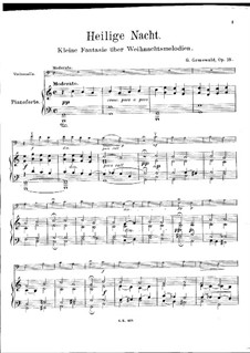 Heilige Nacht for Cello and Piano, Op.18: Score by Gottfried Grünewald