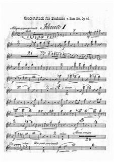 Concert Piece in G Minor, Op.46: Flutes parts by Hans Sitt