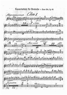 Concert Piece in G Minor, Op.46: Oboes parts by Hans Sitt