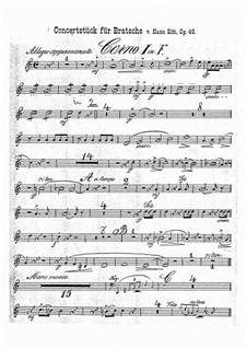 Concert Piece in G Minor, Op.46: Horns parts by Hans Sitt