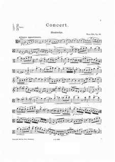 Concerto for Viola and Orchestra in A Minor, Op.68: Arrangement for viola and piano – solo part by Hans Sitt