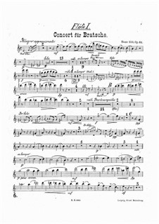 Concerto for Viola and Orchestra in A Minor, Op.68: Flutes parts by Hans Sitt