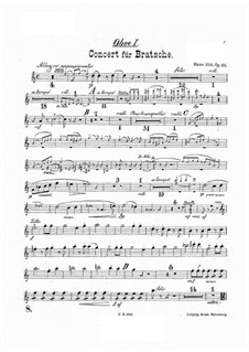 Concerto for Viola and Orchestra in A Minor, Op.68: Oboes parts by Hans Sitt