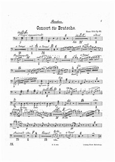 Concerto for Viola and Orchestra in A Minor, Op.68: Timpani part by Hans Sitt