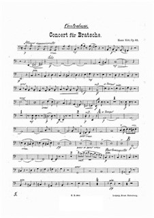 Concerto for Viola and Orchestra in A Minor, Op.68: Double bass part by Hans Sitt