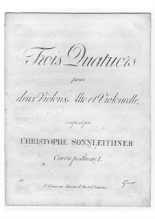 Three String Quartets: Parts by Christoph Sonnleithner
