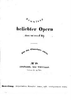 La vestale (The Vestal Virgin): Piano score by Garspare Spontini