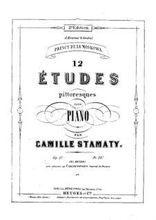Douze études pittoresques for Piano, Op.21: Book I by Camille-Marie Stamaty