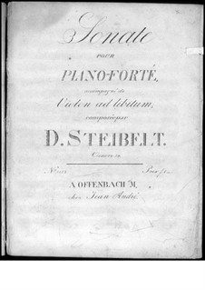 Sonata for Piano in E Flat Major, Op.59: Sonata for Piano in E Flat Major by Daniel Steibelt