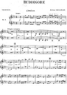 Ruddigore, or The Witch's Curse: Trumpets part by Arthur Seymour Sullivan