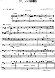 Ruddigore, or The Witch's Curse: Cello and double bass part by Arthur Seymour Sullivan