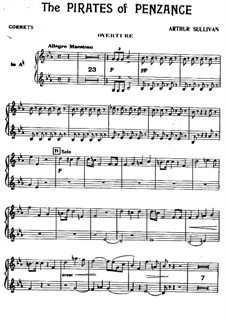 Complete Opera: Cornets part by Arthur Seymour Sullivan