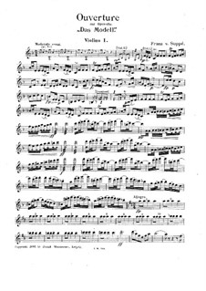 Overture to 'The Model': Violin I part by Franz von Suppé