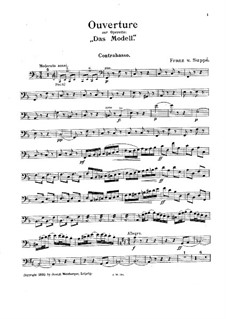 Overture to 'The Model': Double bass part by Franz von Suppé