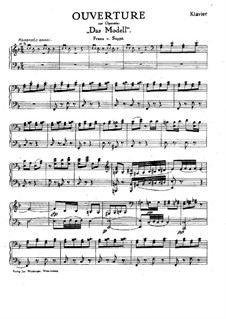 Overture to 'The Model': For salon orchestra – piano part by Franz von Suppé