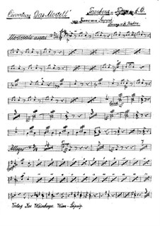 Overture to 'The Model': Percussion part by Franz von Suppé