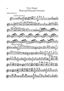 Overture to 'Poet and Peasant': Flutes part by Franz von Suppé