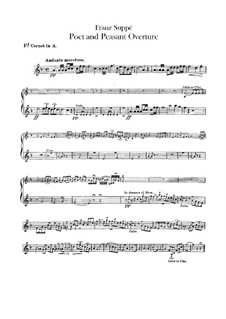Overture to 'Poet and Peasant': Cornets parts by Franz von Suppé