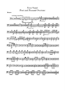 Overture to 'Poet and Peasant': Percussion part by Franz von Suppé