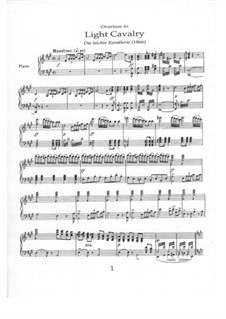 Overture to 'Light Cavalry': For piano by Franz von Suppé