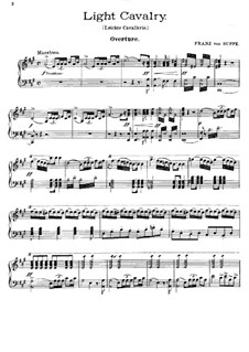 Overture to 'Light Cavalry': For piano (in A Major) by Franz von Suppé