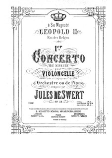 Concerto for Cello and Orchestra No.1 in D Minor, Op.32: Version for cello and piano by Jules de Swert