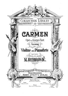 Selected Themes: For violin and piano by Georges Bizet
