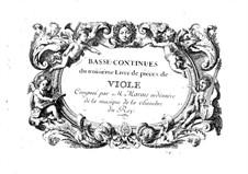 Pieces for Viola: Book III – Basso Continuo Part by Marin Marais