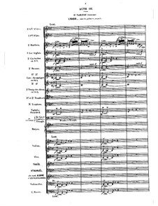 Opera: Act III, tableau I (later version) by Jules Massenet