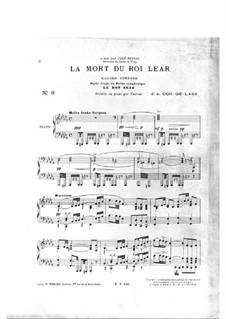 La mort du roi lear. Marche funèbre: La mort du roi lear. Marche funèbre by José de Cor-de-Lass