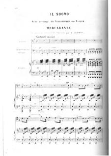 Il Sogno, for Voice, Cello and Piano: Il Sogno, for Voice, Cello and Piano by Saverio Mercadante