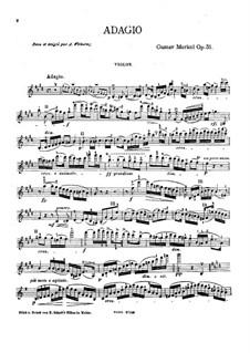 Adagio for Violin and Piano, Op.51: Solo part by Gustav Adolf Merkel