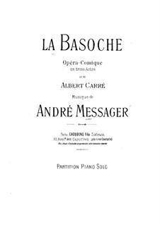 La Basoche: Arrangement for piano by Andre Messager