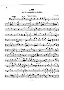 Joseph: Arie, für Cello und Klavier – Cellostimme by Étienne Méhul