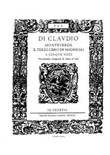 Book 3 (a cinque voci), SV 60–74: Vocal score by Claudio Monteverdi