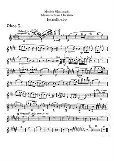 Fragments: Introduction – oboes parts by Modest Mussorgsky