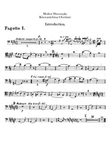 Fragments: Introduction – bassoons parts by Modest Mussorgsky