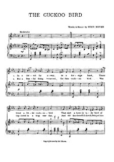 The Cuckoo Bird: For voice and piano by Fred Meyer