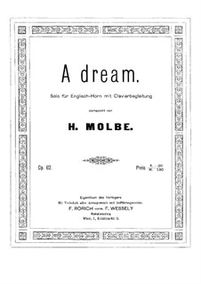 A Dream, Op.62: For cor anglais and piano by Heinrich Molbe