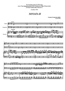 Trio Sonata No.2, WK 118: Movement I – Full Score by Carl Friedrich Abel